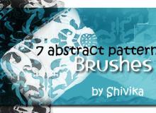 7种抽象式印花花纹笔刷PS笔刷