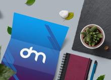 三折页品牌展示效果PSD模板素材