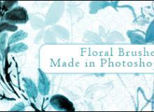 水彩、水墨花卉、鲜花图案PS笔刷下载