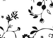 剪纸式植物花纹PS印花笔刷