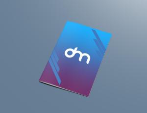 免费A4大小的产品目录PSD样机模板素材