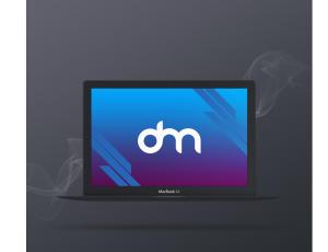 黑苹果笔记本电脑PSD样机模板素材