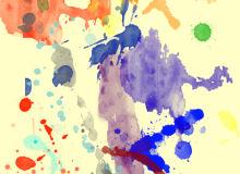 油漆挥洒泼溅效果PS笔刷素材下载