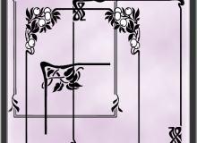植物花纹、艺术花纹边框图形PS笔刷素材