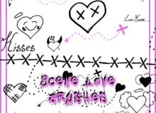 可爱小天使童趣涂鸦元素PS美图笔刷