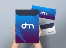 企业文化信封、文件袋PSD样机模板素材