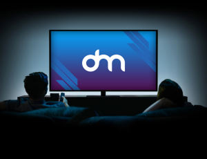 观看大屏电视效果PSD模板素材下载