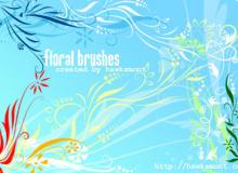 漂亮的植物印花图案PS花纹笔刷素材