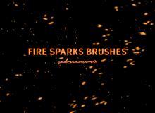 4种火花、篝火燃烧的火光效果PS笔刷下载