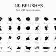 28种水墨油漆画笔笔触PS画笔笔刷