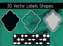 30种欧式标签方框图案PS笔刷下载(csh格式,自定义形状)
