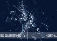 玻璃被打碎的效果PS破碎笔刷