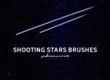 流星、彗星划过天际的图形PS笔刷素材