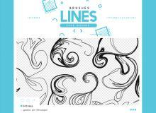 混乱线条纹理效果PS笔刷素材