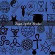 异教徒、邪教刺青、纹身图案PS宗教元素笔刷