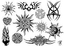 魔鬼、不良的刺绣纹身图案PS笔刷素材