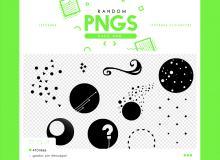 星球装饰PS美图素材笔刷(PNG素材格式)