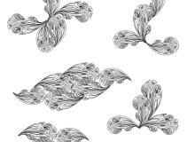 花式手描绘版佩斯利花纹印花PS笔刷素材