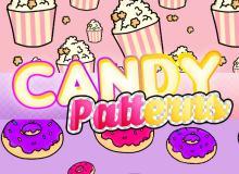 爆米花、甜甜圈背景PS填充素材下载