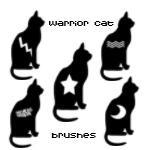 黑色猫咪图像图案PS笔刷
