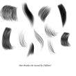 高级儿童头发、发丝、毛发纹理PS笔刷素材