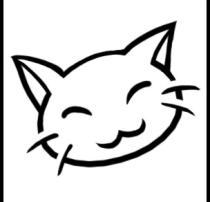 可爱卡通手绘猫咪头像PS笔刷素材