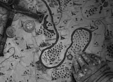 魔法地图中的山林、山脉、沼泽图形PS笔刷素材
