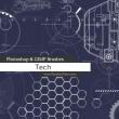 超科技图纸元素、机械文明装扮PS笔刷素材