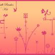 可爱卡通梦幻花鸟、沙漏、星星等图案PS背景笔刷