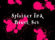 液体、油漆颜料滴溅纹理PS笔刷素材