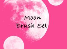 真实月球、月亮图像PS笔刷下载