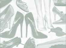 女士高跟鞋、鞋子PS笔刷素材