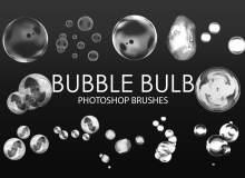 仿真水泡、透明小泡泡、气泡图案PS笔刷素材