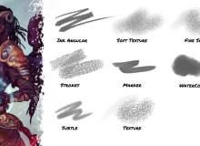 数字插画艺术绘画创作CSP画笔笔刷免费下载