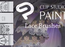 蕾丝边印花、贵族花纹图案sut笔刷CLIP STUDIO PAINT 画笔下载