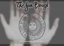 手绘太阳花纹艺术图案PS笔刷素材