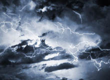 雷电风暴效果、高清闪电纹理PS笔刷素材