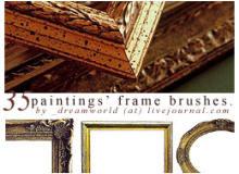35种欧式复古画框、相框PS笔刷素材下载