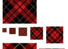 红色格子布纹理Photoshop填充图案文件底纹素材 .pat 下载