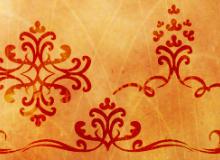 精美典雅的植物印花图案PS笔刷素材