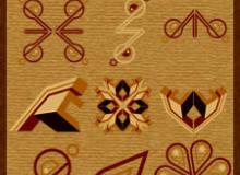 复古式花纹图案装饰PS笔刷下载