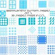 33种时尚的网格图案Photoshop自定义形状素材 .csh 下载