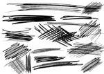潦草的笔迹痕迹、  铅笔划痕PS笔刷下载
