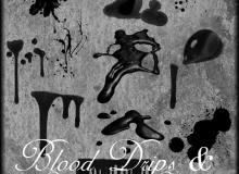 恐怖血液、血迹、滴血效果Photoshop笔刷下载