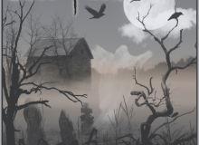 墓地环境景物、蓝天白云等PS笔刷下载