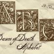 24个复古魔鬼式英文字母图章PS笔刷素材