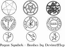 异端裁判所宗教符号、异教徒印迹PS笔刷素材