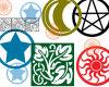 异教徒徽章、宗教图案印迹PS笔刷素材