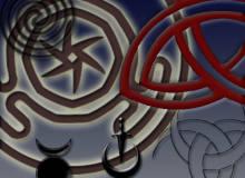 邪恶宗教纹饰、邪教徽章PS笔刷素材