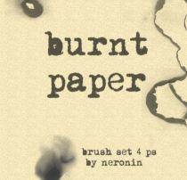 纸张燃烧过后的纹理、灼烧痕迹PS笔刷素材